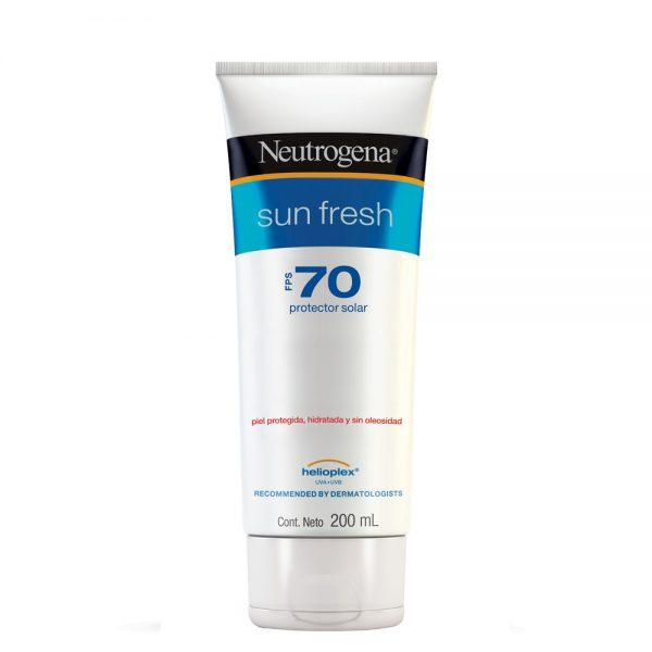 Protector Solar Neutrogena Sun Fresh Fps70 Crema X 200 Ml