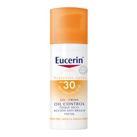 Eucerin Solar Gel Crema Oil Control Toque Seco Fps30 X 50 Ml