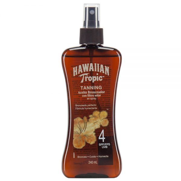 Aceite Bronceador Hawaiian Tropic Tanning Fps4 Spray 240 Ml
